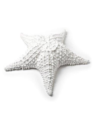 American Chateau 9'' White Resin Thick Spiny Starfish Star Fish Beach/Sea/Bathroom Spa Decor
