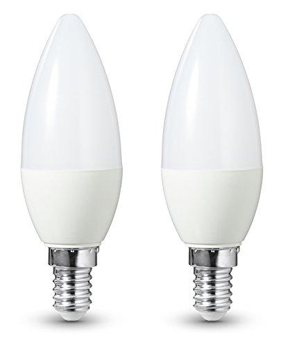 AmazonBasics LED-E14, 6 W mit einer Leuchtkraft von 40 W, 470 Lumen, Dimmbar, 2er-Pack