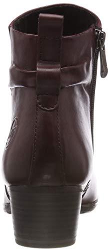 25369 Women's Ankle Bordeaux Red Ant Boots 31 MARCO TOZZI premio 507 qttZUp