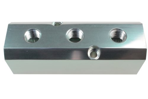 Coilhose Pneumatics 3034 High Flow Manifold, 1/2-Inch FPT Supply Port, Three 1/4-Inch FPT Output Ports