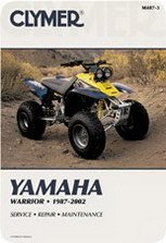 - Clymer Repair Manual for Yamaha ATV YFM350 YFM400 87-04