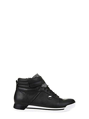 Geox D Chewa B, Zapatillas Altas para Mujer Negro