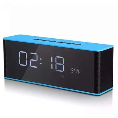 xingganglengyin Alarm Clock Bluetooth Speaker Wireless Card Stereo subwoofer with time Gift Creative Audio by xingganglengyin (Image #2)