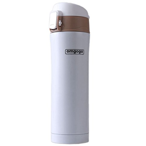 Omgogo Insulated Travel Mug Coffee Mugs Stainless Steel Lid Lock Prevents Leaks 16Oz - Outlet Opening Premium Hours