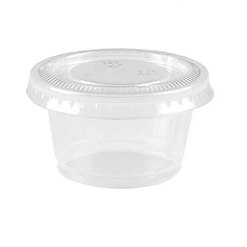 QuiCi 100 Pack Slime Containers PP Plastic Cups with PET Plastic Lids High  Transparent Sauce Cups Food Container Storage Box (4oz)