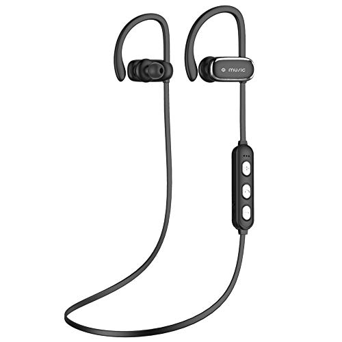 Bluetooth Headphones Bluetooth 4.1 Sport Earphones IPX5 Waterproof Noise Cancelling Wireless Bluetooth Headphones for Running,Cycling,Workout (Black)