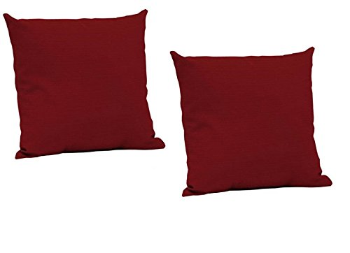 Pillow Back for deep Seat Patio Furniture, 100 Percent Polyester with UV Protection to Resist Fading, Set of 2 (Red Texture) (Deep Seat Patio Cushions Clearance)