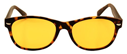 Computer Glasses with Melanin [Melatonin Product Factor (MPF) Rated]- Natural Eye Protection, Block/Filter Blue Light, Better Sleep, Better Health, Preserve Colors, Reduce Glare (Matte Tortoise - Colour What Tortoise A Is