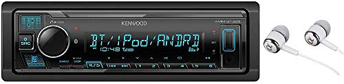 (Kenwood KMM-BT325 Bluetooth USB MP3 WMA AM/FM Digital Media Player Dual Phone Connection Pandora Car Stereo Receiver/Free Alphasonik Earbuds)