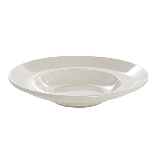 - Buffalo Cream White Rolled Edge Undecorated Deep Pasta Bowl, 39 1/2 Ounce - 12 per case.