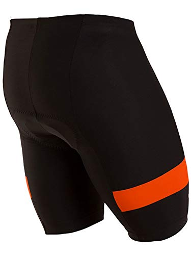 Pearl iZUMi Men's Escape Quest Splice Shorts, Black/Orange Comb, Large by Pearl iZUMi (Image #1)