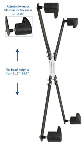 """VIVO Adapter VESA Mount Kit for 20"""" to 30"""" LED LCD Monitor Screen, 75mm and 100mm mounting Bracket (Stand-VAD1) by VIVO (Image #2)"""