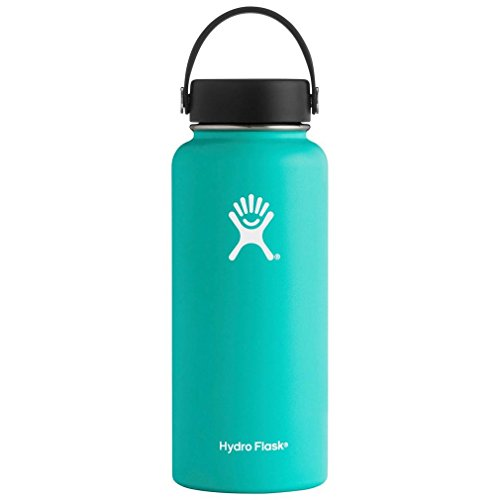 Hydro Flask Double Wall Vacuum Insulated Stainless Steel Leak Proof Sports Water Bottle, Wide Mouth with BPA Free Flex Cap from Hydro Flask