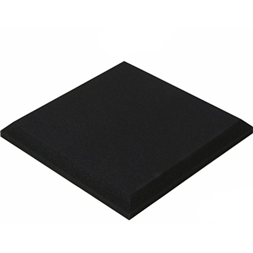 cici store Medium-density Soundproof Sound Absorption Foam Panel Tile Treatment 19.7'' x 19.7''Inch (black)