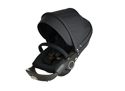 Stokke Stroller Seat Textile Set, Black by Stokke