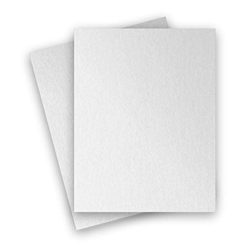 (Metallic White Crystal 8-1/2-x-11 Lightweight Multi-use Paper 25-pk - PaperPapers 120 GSM (81lb Text) Letter size Everyday Metallic Paper - Professionals, Designers, Crafters and DIY Projects)