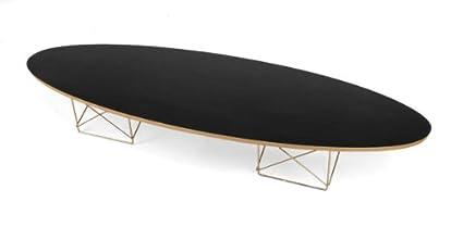 Elliptical Surfboard Coffee Table   Black