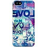 7352 Blue Drawing Apple iPhone 5 5S Case, 3D iPhone 5 5S Cases Hard Shell Cover Skin Cases