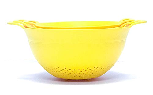 Mintra Home Colander 3pk (Assorted 3pk, Yellow)