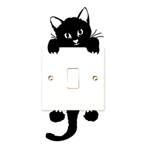 cat wall stickers light switch