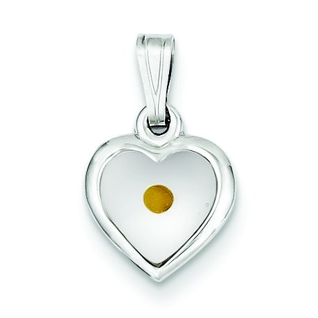 Goldia Sterling Silver Small Heart with Mustard Seed Pendant from Goldia