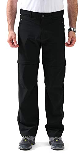 - svacuam Men's Hiking Breathable Quick Drying Outdoor Lightweight Mountain Pants(Black,32)
