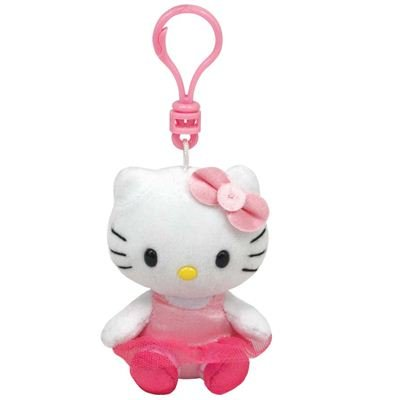 Ty Beanie Babies Hello Kitty Ballerina - Clip On Plush: Toys & Games