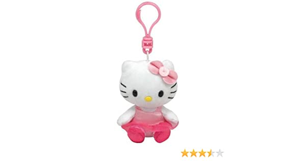 Ty 7140956 - Llavero de Peluche de Hello Kitty (8,5 cm), diseño de Bailarina
