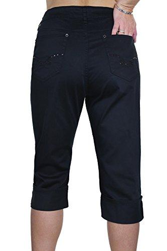 ICE (1516-1) Jeans potati ed estendibile tipo brillante a Chino grandi dimensioni Nero