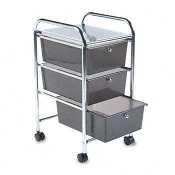 Cropper Hopper Home Center Rolling Cart W/3 Drawers-15.25x26x13 Smoke