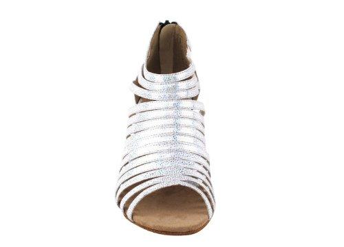Scarpe Molto Belle Signore Ritmo Latino E Salsa Ballerino Competitivo Serie Cd3026 2.5 Bianco