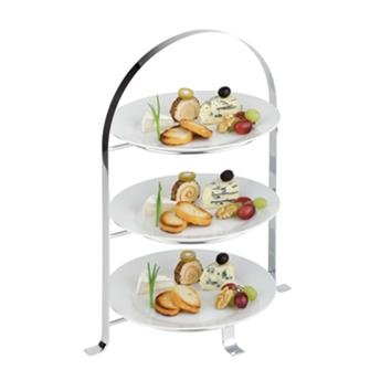 (M33217) 3 TIER CHROME SERVING STAND (MAX 26CM PLATES- PLATES NOT INCLUDED  sc 1 st  Amazon UK & M33217) 3 TIER CHROME SERVING STAND (MAX 26CM PLATES- PLATES NOT ...