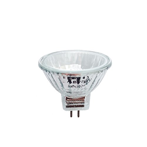 Anyray A1868Y (1-bulb) Clear MR11 12Volt 10Watt Precision Halogen Reflector Fiber Optic Light Bulb 10W 12V