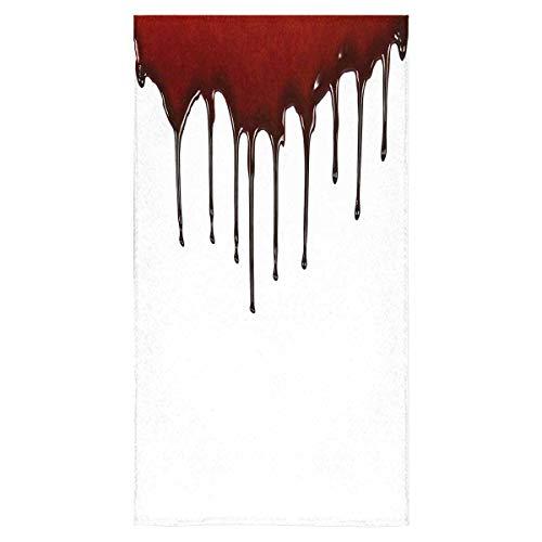 InterestPrint Dripping Blood Horror Halloween Bloody Theme Large Bath Towel Gym Yoga Wash Towel Travel Beach Towels for Hotel Spa Salon Gym Bathroom, 30x56 Inch