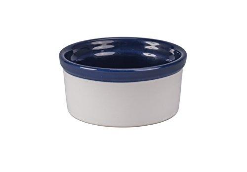 BIA Cordon Bleu 404992+3102S1SIOC Porcelain Dish Souffle, Cobalt Blue/White by BIA Cordon Bleu