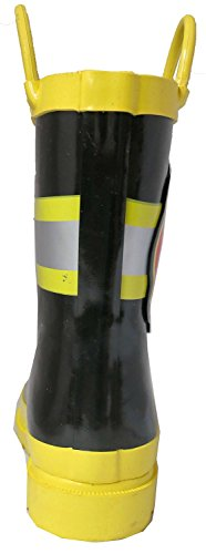 Pictures of Little Boy's Black Fire Chief Rain Black and Yellow 5