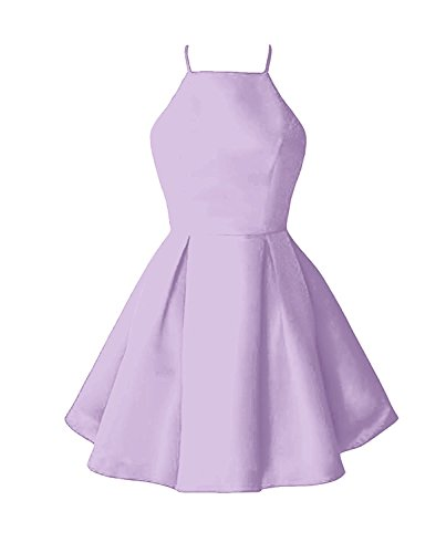 Party Dress Dresses Anna's Lavender Women's Short Satin Prom Bridal 2018 Homecoming ZzHw8Aq