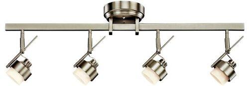 (Kichler 10326NI LED Track Lighting Kit Semi Flush Ceiling Lighting Dimmable, 4-Light (6