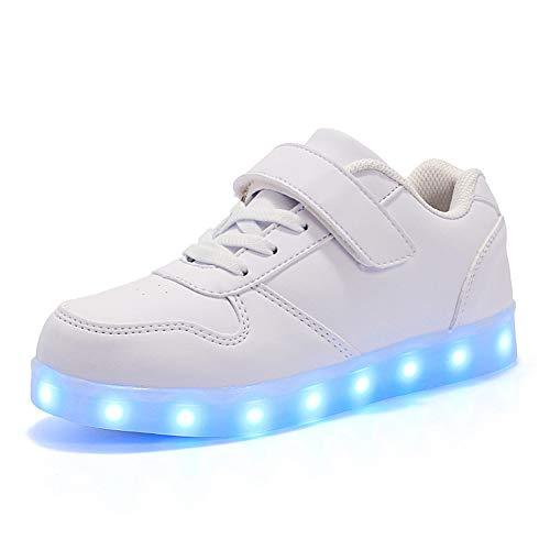 Chaussures Life Licy Dessus 518 Couleurs Shoes Led 7 Garçon Enfants Clignotants uk Securité Lumineuse Sneaker Mode Fille Unisex Rechargeable Blanc Usb Mutilsport 8d1ndW