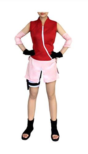 [Dazcos Naruto Shippuden Sakura Haruno Casual Cosplay Costume(Women XL)] (Naruto Shippuden Costume)