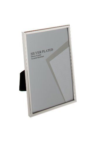 Viceni Silver Plated Thin Edge Photo Frame, 4 by 6-Inch