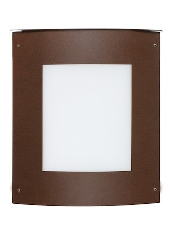 Besa Lighting 107-842107-BR 1X60W E12 Moto 11 Square White Outdoor Lighting Fixtures, Bronze Finish ()