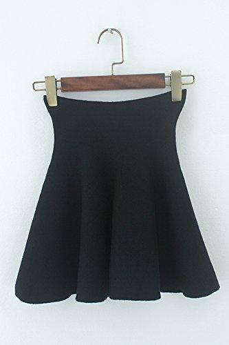 Autumn and winter the new A word skirt high waist skirt(Blue) - 4