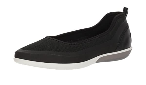 ECCO Women's Sense Light Ballerina Flat Ballet Black, 39