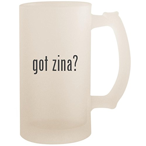 got zina? - 16oz Glass Frosted Beer Stein Mug, Frosted ()