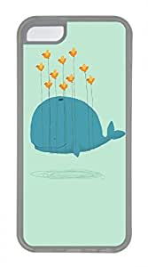 linfengliniPhone 5c case, Cute Whales Flight iPhone 5c Cover, iPhone 5c Cases, Soft Clear iPhone 5c Covers