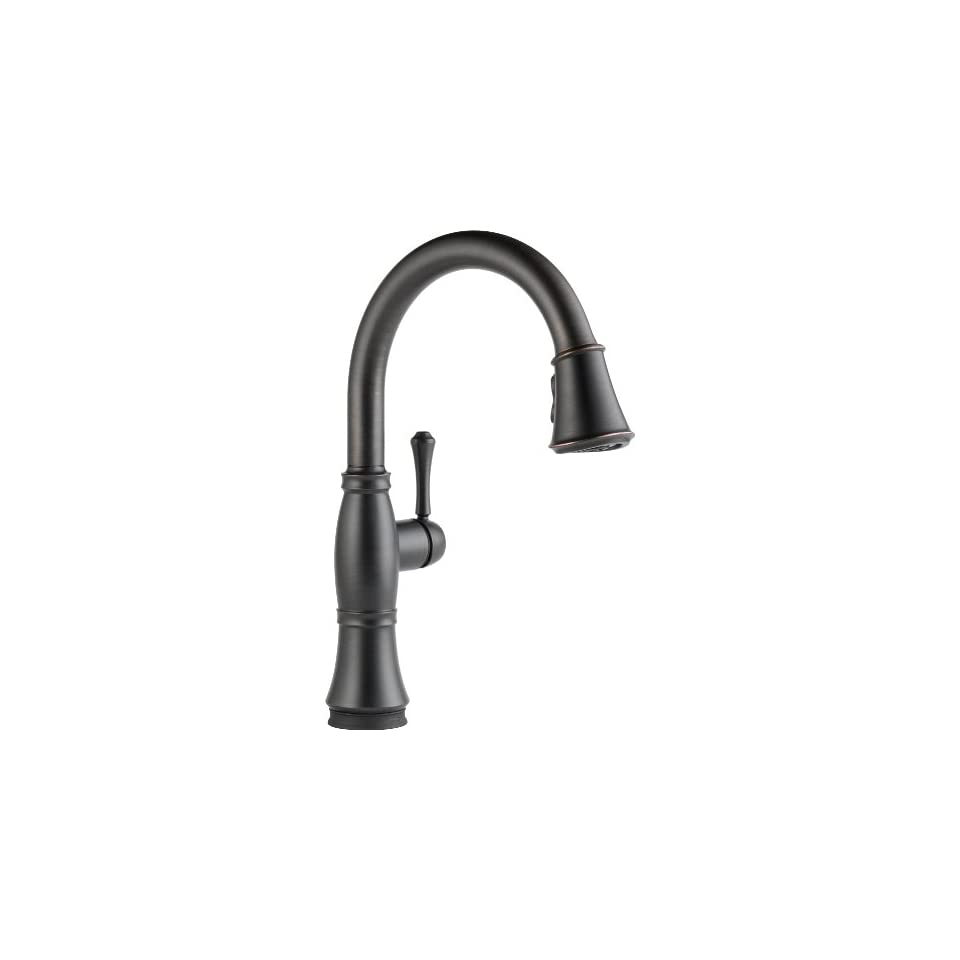 Delta Faucet 9197T RB DST Cassidy, Single Handle Pull Down Kitchen Faucet with Touch2O Technology, Venetian Bronze   Touch On Kitchen Sink Faucets