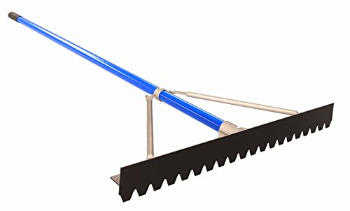 Bon 22-987 30-Inch Aluminum Asphalt Lute Rake with 6-Feet Handle