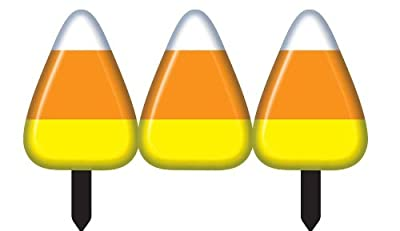 Forum Novelties 211542 Candy Corn Fence - 2 sections