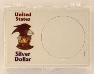 BABY/'S 1st SILVER DOLLAR AMERICAN EAGLE SNAP LOCK PLASTIC 2X3 COIN HOLDER NEW